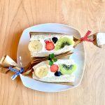 ゴロっと果物&ラムが香るクリーム&フワフワのパンで作る「フルーツサンド」