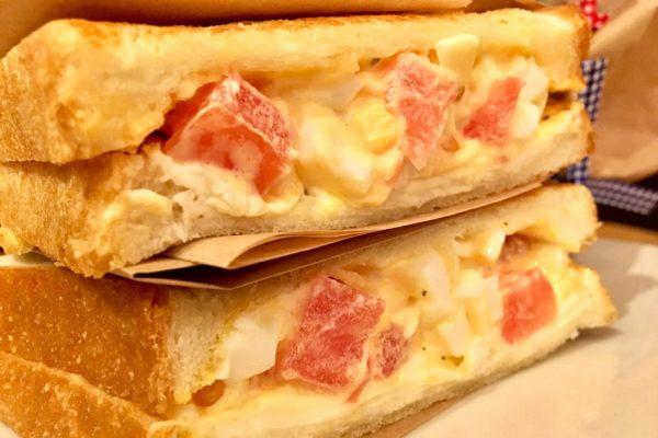 フレッシュトマトとクリームチーズのたまごサンド 自由が丘 ココノヴァ